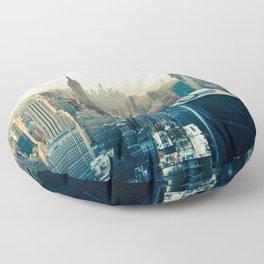 New York City Skyline Floor Pillow