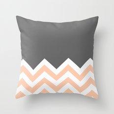 Color Blocked Chevron 12 Throw Pillow