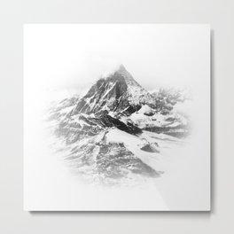 Blurry Mountain Metal Print