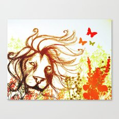 Beast and the Butterflies Canvas Print