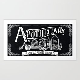 Carefully Prepared Remedies Art Print