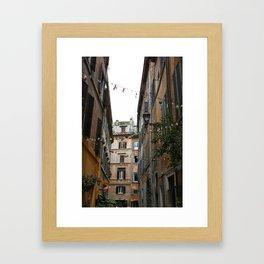 An alleyway in Rome. Framed Art Print