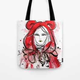 Miss Red Riding Hood Tote Bag