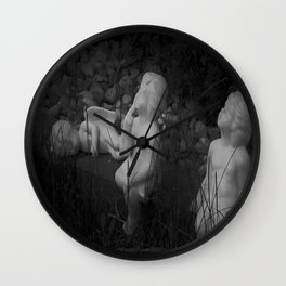 Three Little Angels Wall Clock