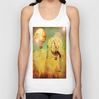 hot air balloons Tank Tops featuring Hot-air balloons animal in Moscow by Ganech joe