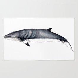Minke whale Rug