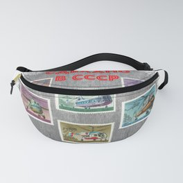 Made in CCCP - helicopter collage Fanny Pack