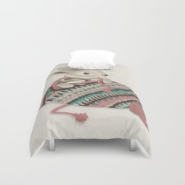 Cozy Bunny and Chipmunk Duvet Cover