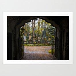 Cemetery gates Art Print