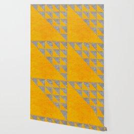 gold yellow concrete geometric pattern Wallpaper