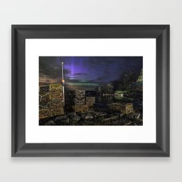 Lobster Trap Aurora Framed Art Print