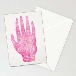 Palm Reading Chart - Pink Stationery Cards