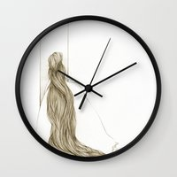 rapunzel Wall Clocks featuring Rapunzel by Paola Cocchetto