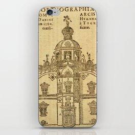 Epistolarvm Astronomicarvm Libri, 1596 - Tycho Brahe's Castle and Observatory, Hven, Denmark iPhone Skin