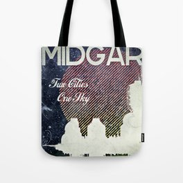 Final Fantasy VII - Midgar Tribute Poster *Distressed* Tote Bag