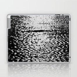 Sea black and white vintage photo Laptop & iPad Skin