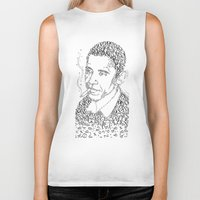 obama Biker Tanks featuring obama times by Vin Zzep