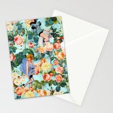 Floral and Pin Up Girls II Pattern Stationery Cards