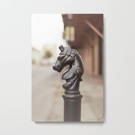 New Orleans Hitching Post #3 Metal Print