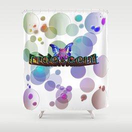 Iridescent Bokeh Shower Curtain