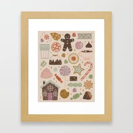 In the Land of Sweets Framed Art Print