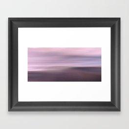 Seascape magenta Framed Art Print