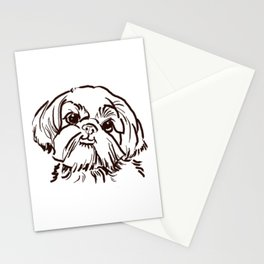 The sweet Shih Tzu dog love of my life! Stationery Cards