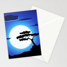 Full Moon Night Stationery Cards