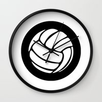 volleyball Wall Clocks featuring Volleyball Ideology by ideology