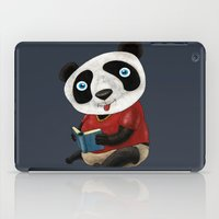 panda iPad Cases featuring Panda by gunberk