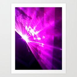 Pink laser Art Print