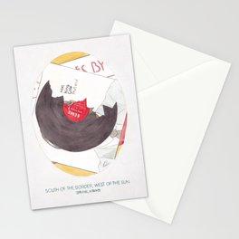 Haruki Murakami's South of the Border, West of the Sun Watercolour Novel Illustration Stationery Cards