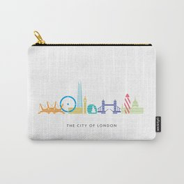 London Skyline White Carry-All Pouch