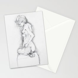 life drawing woman Stationery Cards