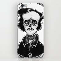 poe iPhone & iPod Skins featuring Poe by Shawn Dubin
