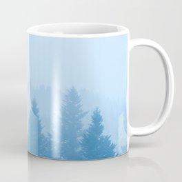 Fog over forest Coffee Mug