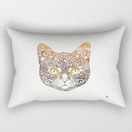 Swirly Cat Portrait Rectangular Pillow