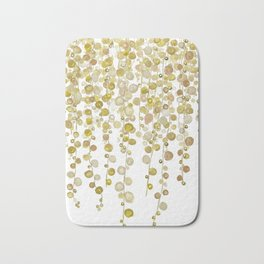 golden string of pearls watercolor 2 Bath Mat