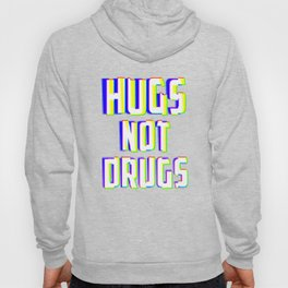 Hugs Not Drugs TV Glitch Effect - Anti-Drug Awareness Gift Hoody