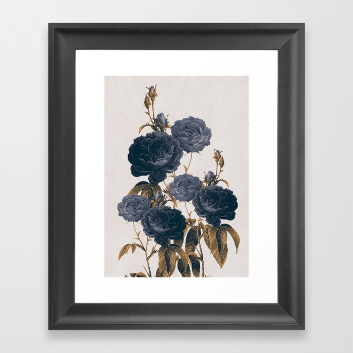 blue flowers Framed Art Print by dada22 | Society6