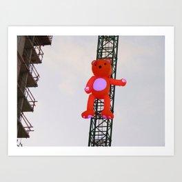 High There Bear Art Print