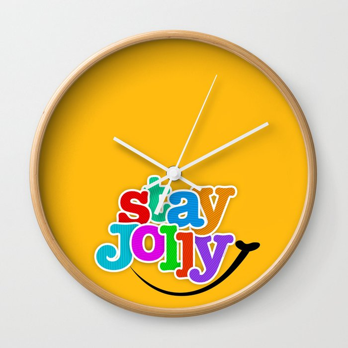 Stay Jolly - Key to Happiness Wall Clock
