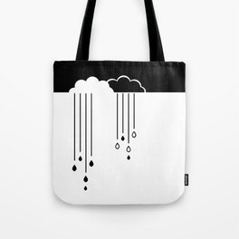 Black And White Clouds Tote Bag