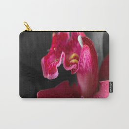Solo Red Orchid on Grey Background #decor #society6 Carry-All Pouch