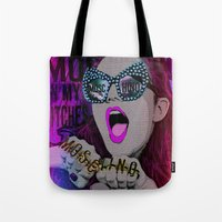 moschino Tote Bags featuring MOSCHINO by AZZURRA DESIGNS