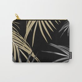 Gold Gray Palm Leaves Dream #1 #tropical #decor #art #society6 Carry-All Pouch