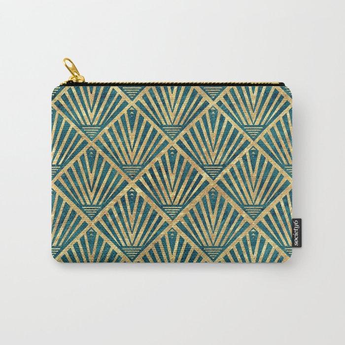 Stylish geometric diamond palm art deco inspired Carry-All Pouch