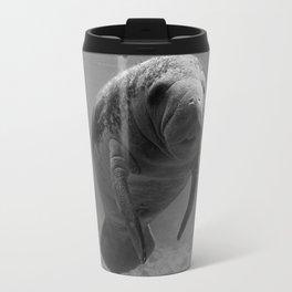 Manatee One B&W Travel Mug