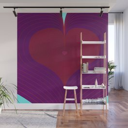 I Heart Lines Wall Mural