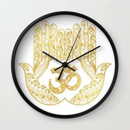 Hamsa - Om symbol Wall Clock
